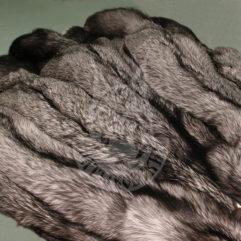 Шкурки лисицы пресно-сухие (Серебристо-чёрная)