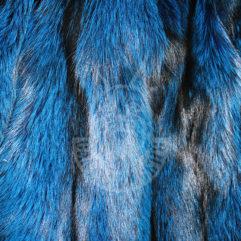 Шкурки лисицы выделанные, окрашенные (Синяя)